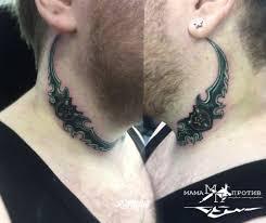 шея татуировки в архангельске Rustattooru