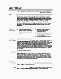 Early Childhood Education Resume Objective Luxury New Job Objective
