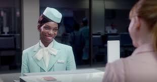 michaela coel black mirror. michaela coel wears a flight attendant suit in black mirror the cheat sheet