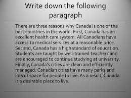 how to write a basic paragraph ppt video online write down the following paragraph