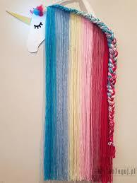 unicorn diy with yarn mane and a braid