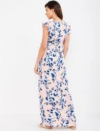 Splendid Tie Detail Maternity Maxi Dress