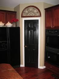 Interior Design: Interesting Oak Painted Woods Black Interior ...