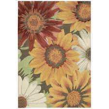 dazzling sunflower area rugs rug decoration