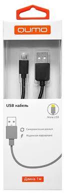<b>Кабель Qumo USB</b> - microUSB (PVC) 1 м — купить по выгодной ...