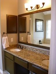 double sink bathroom mirrors. Bathrooms Design : Double Bathroom Vanity Elegant Brown Wooden With Mirrors Over Sink S
