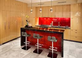kitchen designs red kitchen furniture modern kitchen. View In Gallery Modern Kitchen With Red Accent Backsplash And Island Designs Furniture L