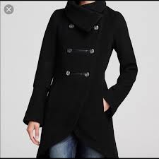 Sold Mackage Black Dianna Wool Peacoat