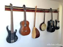 aloha home solutions guitar wall rack hanger diy horizontal tools for the task guitar hangers wall