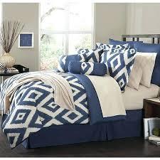 navy blue bedding bedroom sets white fl pattern comforter and striped pillows duvet covers uk