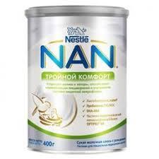 <b>NAN Тройной</b> комфорт, для детей с рождения, <b>смесь молочная</b> ...
