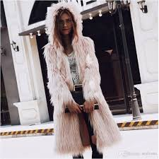 2019 deluxe women long fox fur coats 2017 autumn winter warm fluffy thicken hooded cardigan overcoats fashion style hoos jacket parka from styleme