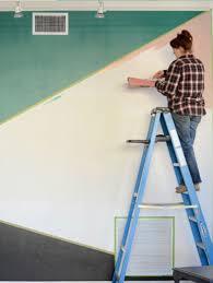 geometric wall paintGeometric Wall  FrogTape Painters Tape