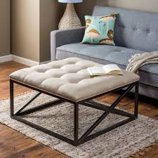 ... Coffee Table, Best White Square Rustic Fabric Upholstered Coffee Table  Design Ideas To Fill Living ...