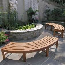 curved garden bench. Curved Benches For Around The Fire Pit Garden Bench