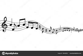 Muscial Staff Curved Music Staff Curved Music Staff Notes Background