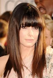 Hairstyles With Blunt Fringe Messy Hairstyles For Long Hair With Blunt Bangs