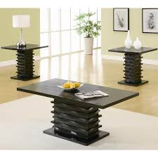 pallet coffee and end tables coaster furniture 701514 contemporary 3 pieces coffee table and coffee table