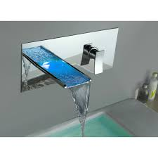 yodel waterfall faucets for clear glass basin  bathroom sink