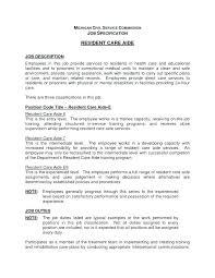 Home Health Aide Job Description For Resume Emelcotest Com