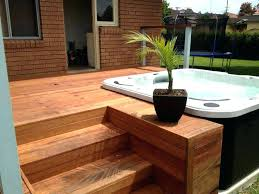 above ground spa with deck above ground hot tub designs cheerful hot tub deck creative decoration