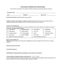 Best Standard Operating Procedure Sop Templates Sample Sop Template