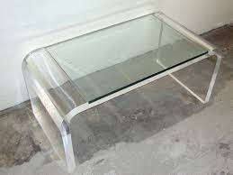 Clear Acrylic Side End Table With Magazine Rack Target Tables Living Room