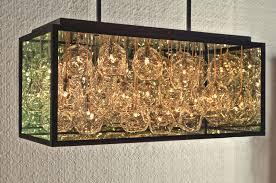 impressive blown glass chandelier by john pomp studios