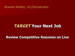 Resume Writing 101 Twnctry