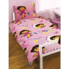 Childrens/Kids Girls Dora The Explorer Junior Bed Quilt/Duvet ... & Childrens/Kids Girls Dora The Explorer Junior Bed Quilt/Duvet Cover Bedding  Set ( Adamdwight.com