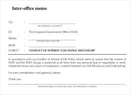Sample Of Office Memorandum Under Fontanacountryinn Com