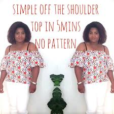 Off The Shoulder Top Pattern