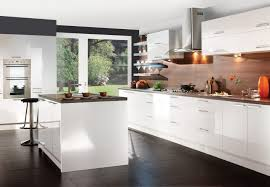 White High Gloss Kitchen Cabinets Kitchen White Lacquer Flat Front Kitchen Cabinets Pictures