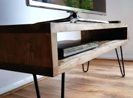 tall tv console. Tall Rustic Tv Stand Vintage Retro Box W Metal Hairpin Legs Solid Wood Regarding Console Tables Plan Furniture Cabinet