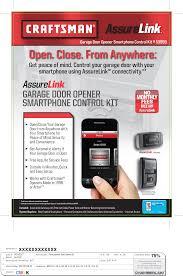 Craftsman Assure Link Garage Door Opener Smartphone Control