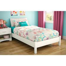 South Shore Step One Twin-Size Platform Bed in Pure White-3050205 ...