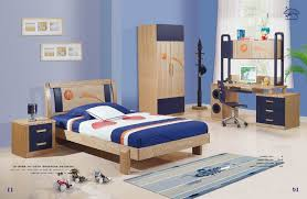 Bedroom: Dazzling Kids Boys Bedroom Set Navy And Natural Finish With ...