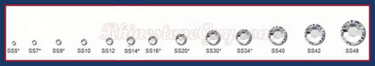 Rhinestones And Chatons Sizes Reference Charts