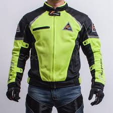 motorcycle jacket racing riding coat summer wear breathable mesh fabric for kawasaki yamaha with 5 protective gear man coat
