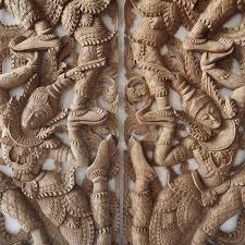 pair of wall art panel wood carving sculpture siam sawadee carved wall art panels great wood carved wall art