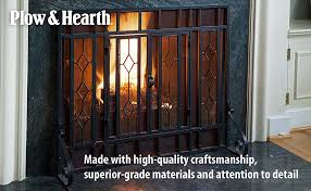 the decorative tempered glass panels alternate with mesh screening so you can watch the flames through cut glass and still enjoy the heat from your fire