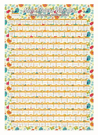 Baby Countdown Calendar Pregnancy Calendar Baby Countdown Diary Milestones Guide Posters