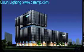building facade lighting. Architectural Facade Lighting Project Effect Design By Cisun Building