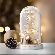 Weihnachtsdeko Glasglocke Led Batteriebetrieben