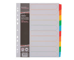 Page Dividers File Dividers Ryman