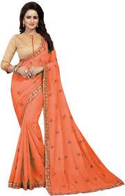 Gopi Saree Design Buy Vaghani Tex Embroidered Self Design Bollywood Georgette