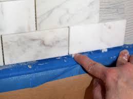 Marble Tile Kitchen Backsplash How To Install A Marble Tile Backsplash Hgtv