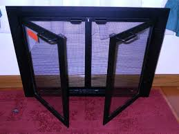 phenomenal wood fireplace screens 12 copper screen on customfireplace quality electric gas