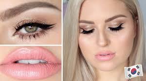 korean brand makeup tutorial dewy skin shiny eyes insram