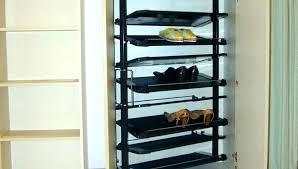 diy closet shoe rack plans door organizer floor best racks for closets bathrooms splendid cool rac